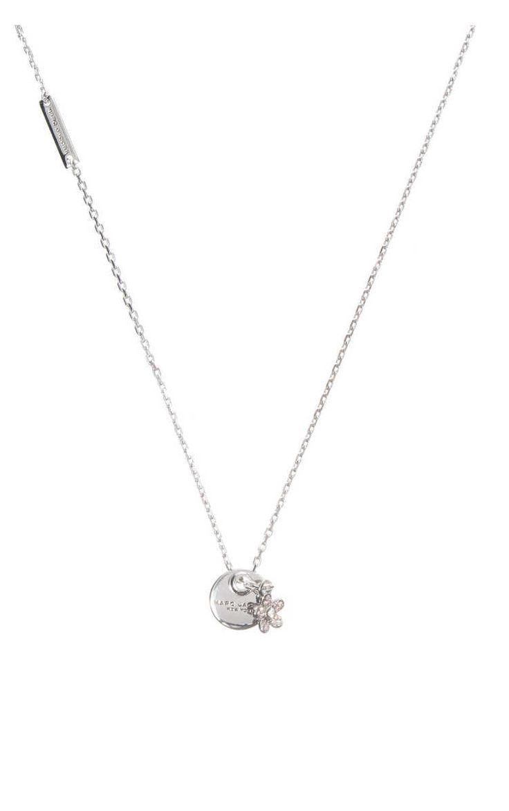 Halsband MJ Coin Pendant Flower CRYSTAL/SILVER - Marc Jacobs - Designers - Raglady