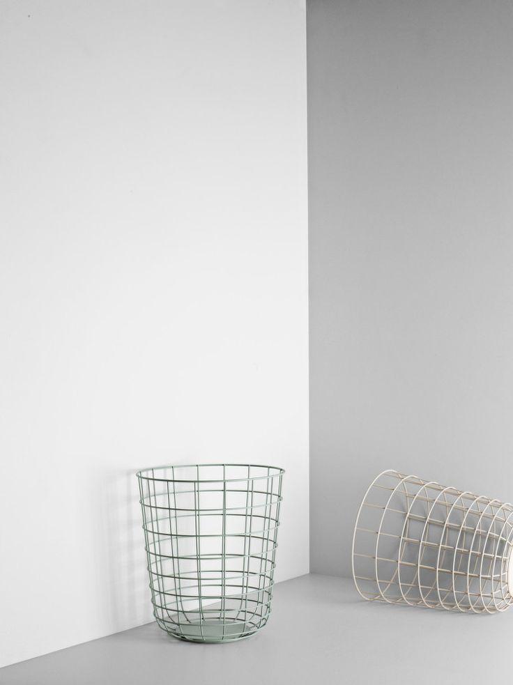 Drátěný koš od Menu, světle růžový | DesignVille