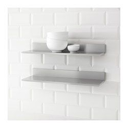 IKEA - LIMHAMN, Wall shelf, 60x20 cm, , Shelves in stainless steel, a hygienic, strong and durable material that is easy to keep clean.