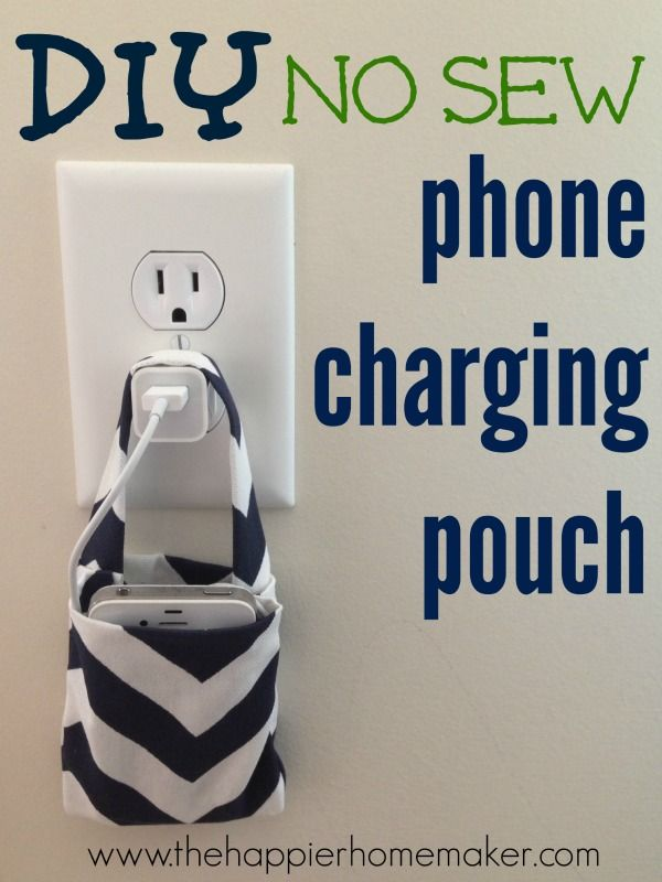 I will SEW mine. While I'm at it, will also make one to velcro to the iPad's cover; one for my rechargeable-battery charger, as well as one for my toothbrush charger. A GREAT idea .... thanx!