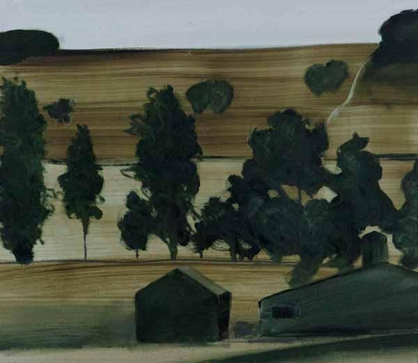 Junction Art Gallery - Barn Private Road, oil on paper £450.00 http://www.junctionartgallery.co.uk/artists/painting/paul-kessling/barn-private-road