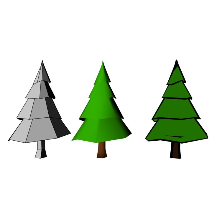 9 best trees images on Pinterest | Low poly, 3ds max and Abstract ...