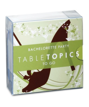 Take a look at this Bachelorette Party TableTopics Game by TableTopics on #zulily today!