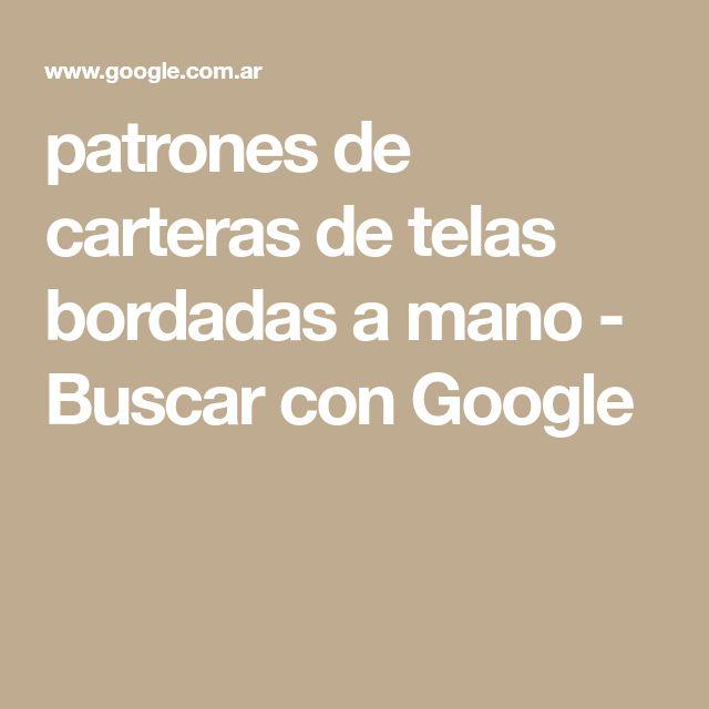 patrones de carteras de telas bordadas a mano - Buscar con Google