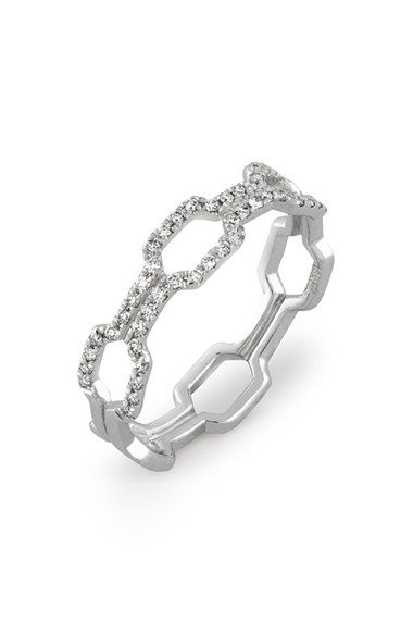 Bony Levy Stackable Open Weave Diamond Ring available at #Nordstrom