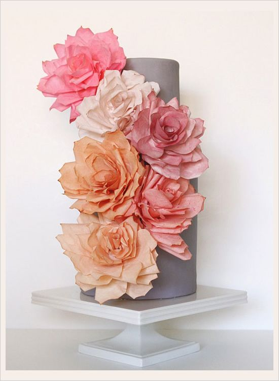 paper flower wedding cake
