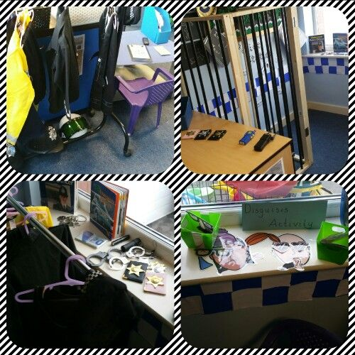 Our latest Police Station role play area! With its own prison cell made my one of my amazing TA's hubby!