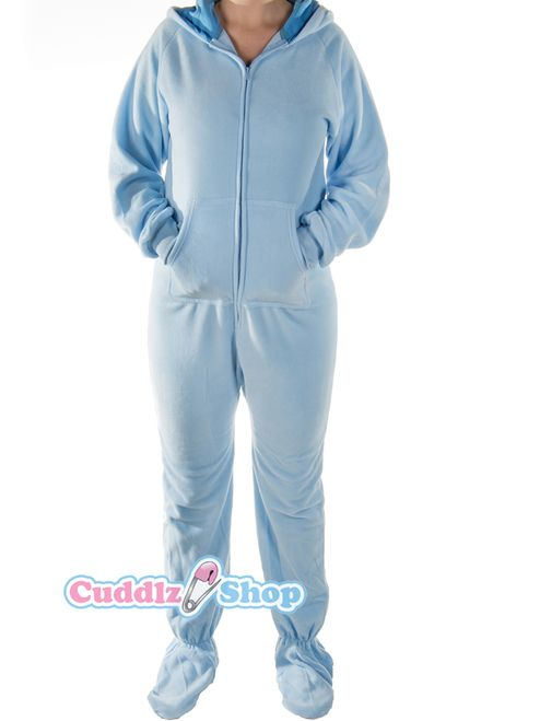 222de437656 blue onesie for adults with feet adult baby footed sleeper abdl onesies  with feet - Cuddlz.com