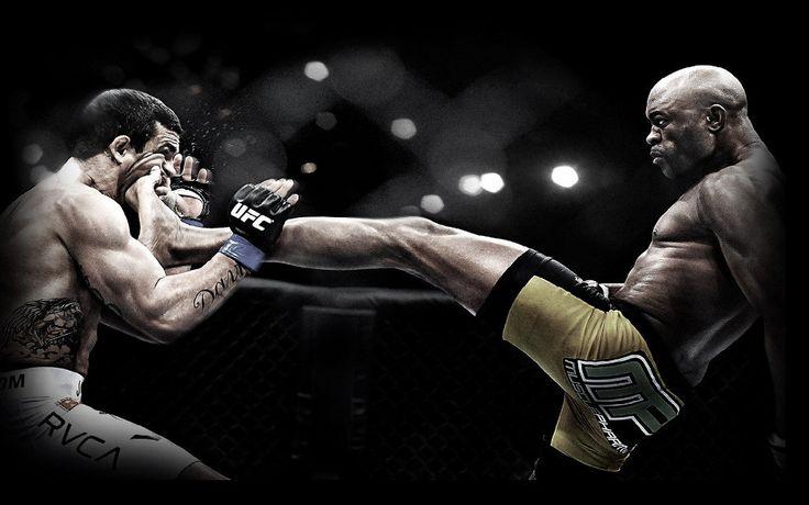Sparta UFC Anderson Silva Front Kick Poster 30x90cm Wallpaper Fabric