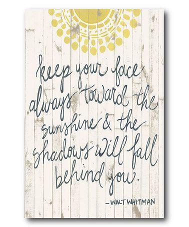 Look at this #zulilyfind! Sun Quote III Wrapped Canvas #zulilyfinds