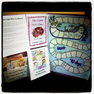 Love this Lent lapbook for hands on use throughout! Lent Road Map For Kids  http://www.myscrappylife.com/2012/02/lenten-journey-2012-road-map-for-kidz.html