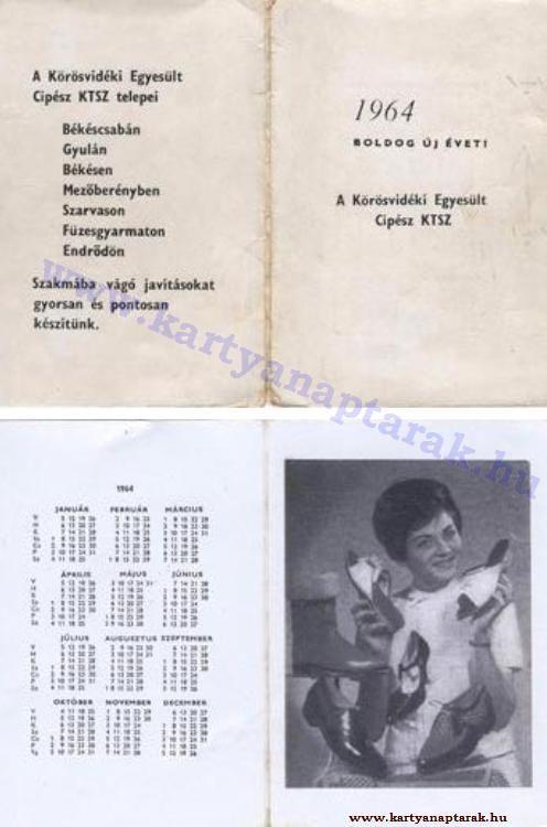 1964 - 1964_0166 - Régi magyar kártyanaptárak