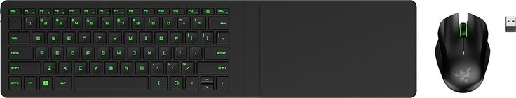Razer - Turret Living Room Wireless Gaming Mouse and Lapboard - Black