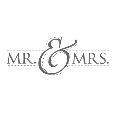 Mr. & Mrs. Wood-Mount Stamp Set