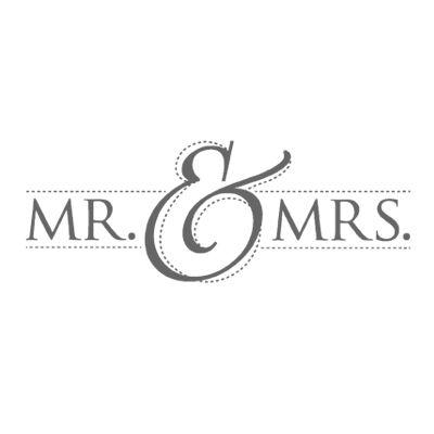 Mr. & Mrs. Wood-Mount Stamp Set