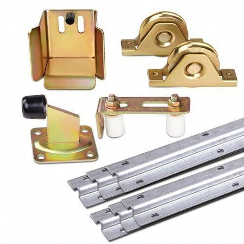 Outdoor Diy Sliding Gate Hardware Kit W Adjustable Track Wheels