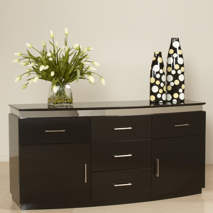Chintaly Imports XENIA BUFF Five Drawer Contemporary Sideboard