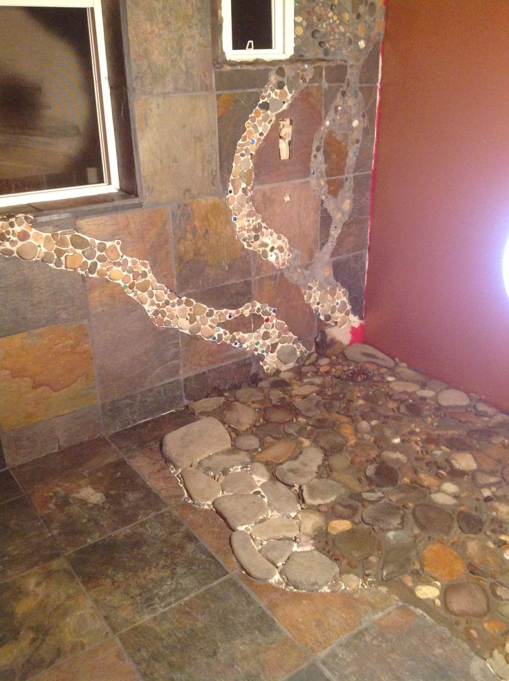 17 best images about master bath river rock shower on