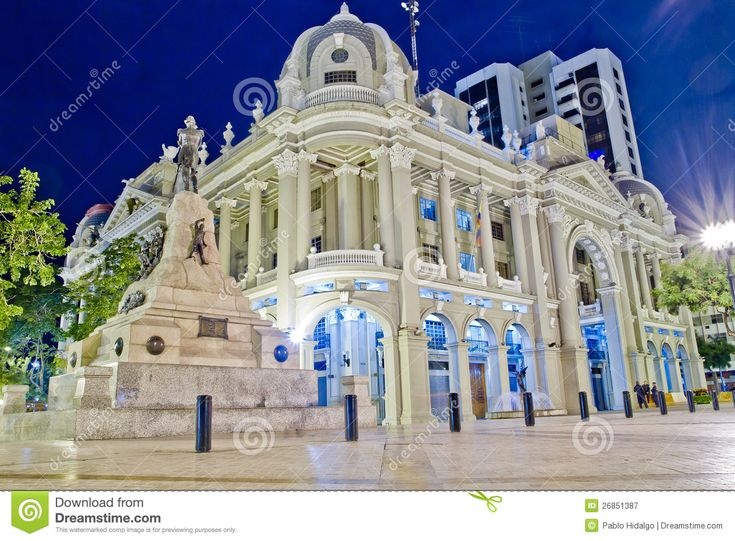 Government Palace Office Guayaquil At Night
