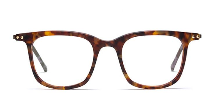 SHALLOW WATERS I Casual and lightweight look. Classic mid havana acetate front with thin copper coloured metal temple.