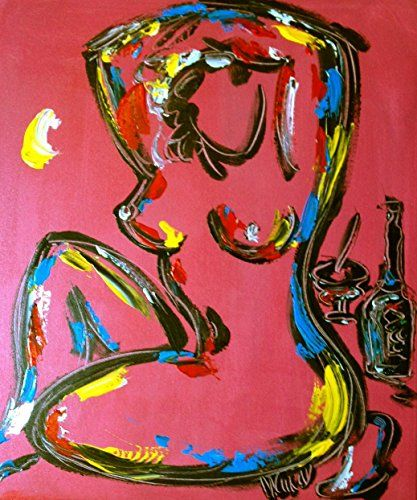 """Large 24"""" Modern Nude Abstract Sexy Women Erotic Pinup Na…"""