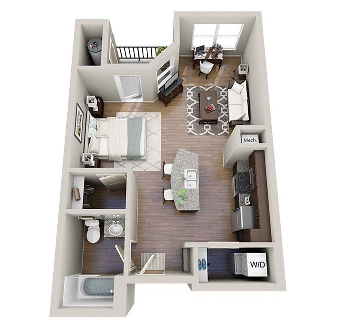 Studio Apartment Floor Plans New York 169 best planos 3 d images on pinterest | small houses