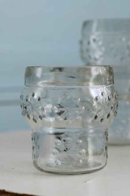 Childhood drinking glasses by glass works Riihimäki, Finland | RIIHIMÄEN LASI-LUMIHIUTALE