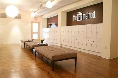 bar method studio, nyc....great locker area but not sure if we'd have the room