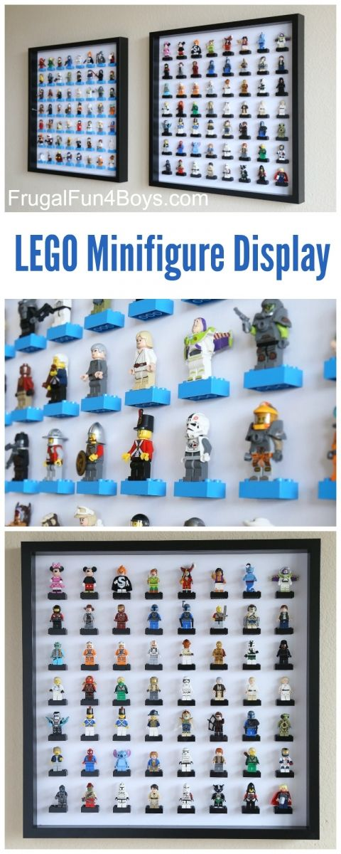 LEGO Minifigure Display with IKEA Ribba Frames