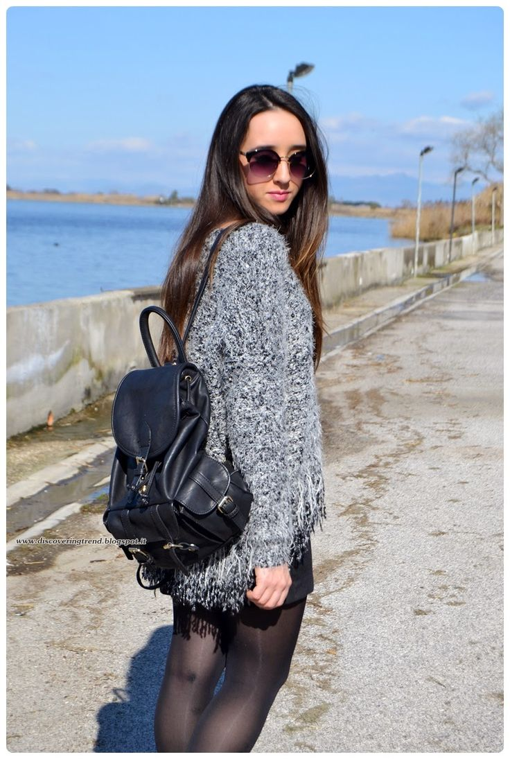 Discovering Trend in the Nina Feather Fringe Grey Jumper…