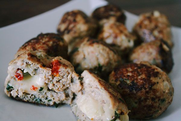 ... Turkey Meatballs with Sun Dried Tomatoes and Fresh Basil Recipe