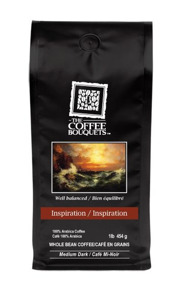Signature Blend - Inspiration- Smooth chocolaty flavour is intertwined with honey-berry undertones resulting in a silky beverage leaving the memory of your journey on your taste buds. This cup is medium in acidity levels.  http://www.thecoffeebouquets.com/shop.asp