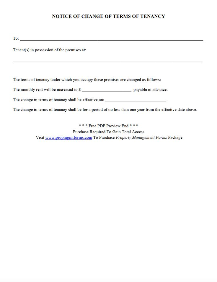 46 best Property Management Forms images on Pinterest Pdf - notice to tenants template