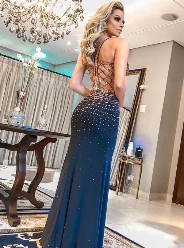 Vestidos azules largos 2019