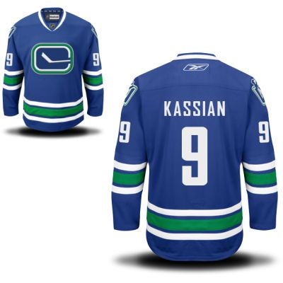 Vancouver Canucks 9 Zack Kassian Third Jersey - Royal Blue