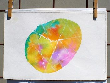egg watercolor art found at Scrumdilly-Do