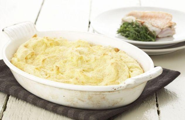 Gegratineerde aardappelpuree