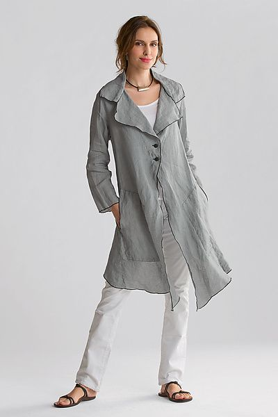 Flynn Duster: Cynthia Ashby: Linen Jacket