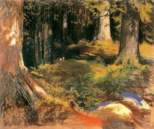Leon Wyczółkowski   Las w Zakopanem w słońcu,  1905