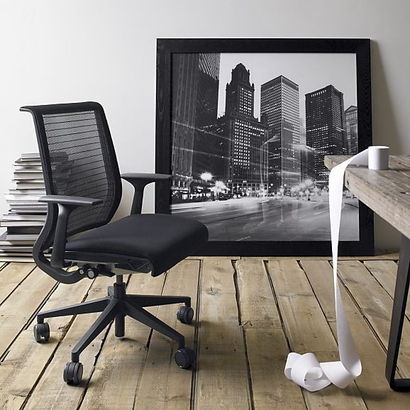 Steelcase® Think™ Office Chair in Office Chairs   Crate and Barrel