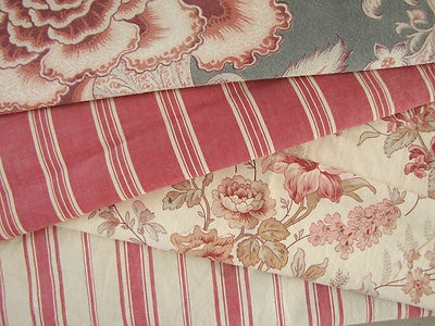 Antique French Fabric Coordinating Scatter Cushion Fabrics Materials Vintage | eBay
