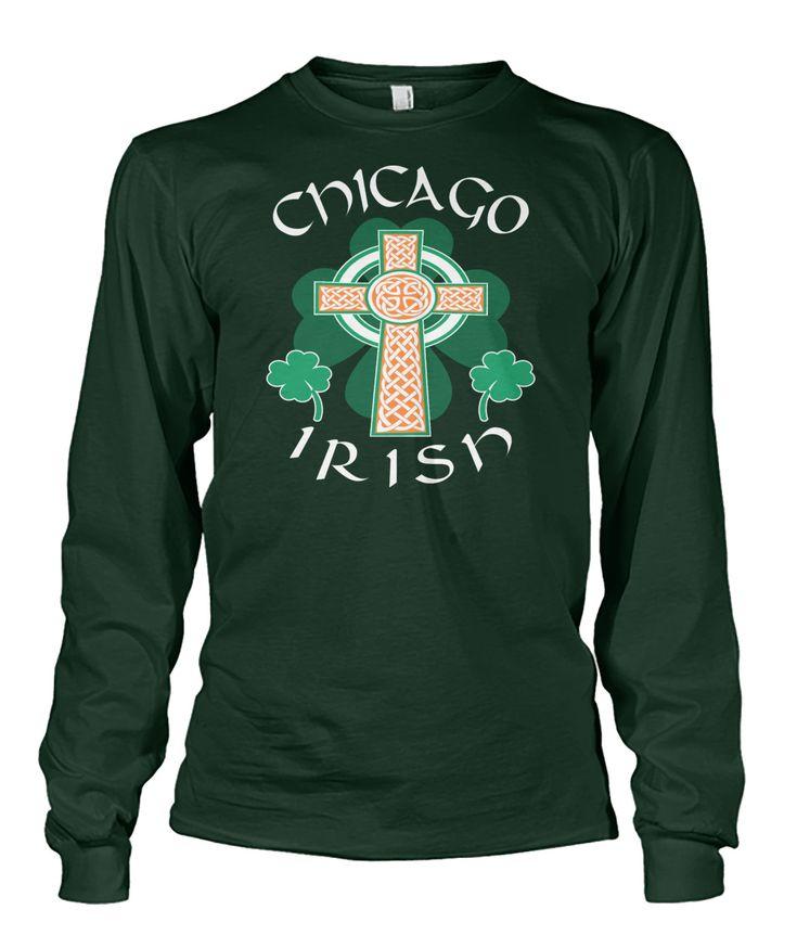 Chicago USA Irish Pride Celtic Cross. #SaintPatrick'sDay,#Ireland,#Irish,#Shamrock,#PaddyDay,#StPatrick,#IrishPride,#IrishAmerican,#ChicagoIrish