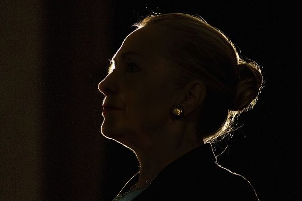 Hillary Clinton looking Evita-ish