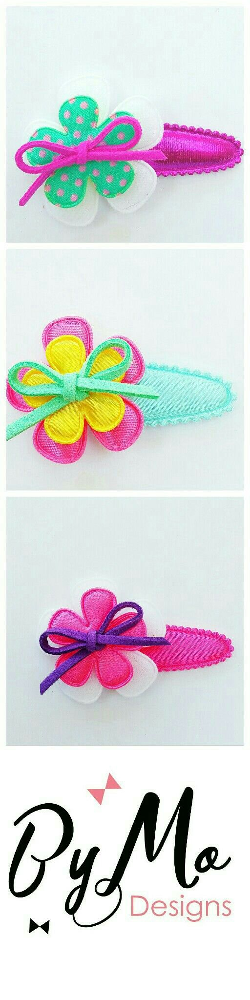 Happy hairclip for summer 4 or 5cm