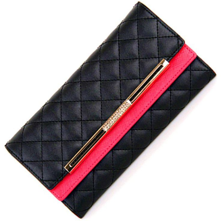 Fashion Luxury Women PU Leather Wallet, Prismatic Lattice Hasp Card Holder Patent Leather Purse Wallet for Women $19.99 (free shipping) 2 sizes