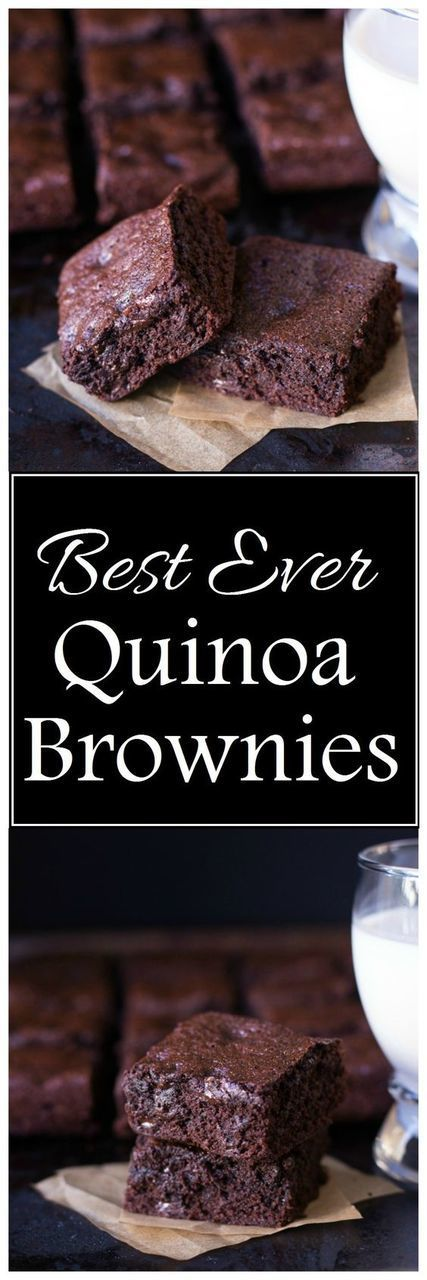 Best-Ever Quinoa Brownies- so perfect and delicious you would never know they are gluten-free!