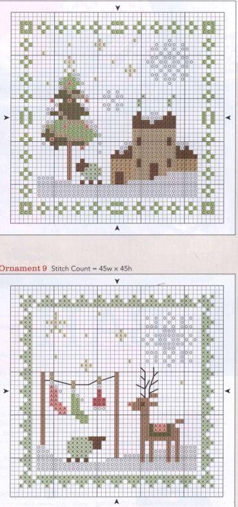 coussinets de Noël - grilles (voir ouvrages faits)