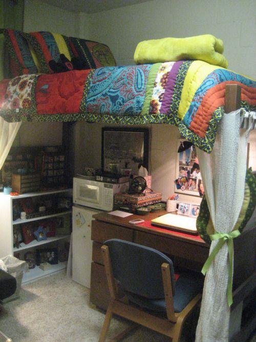 Dorm Room Loft Beds: 38 Best Images About Dorm Life On Pinterest