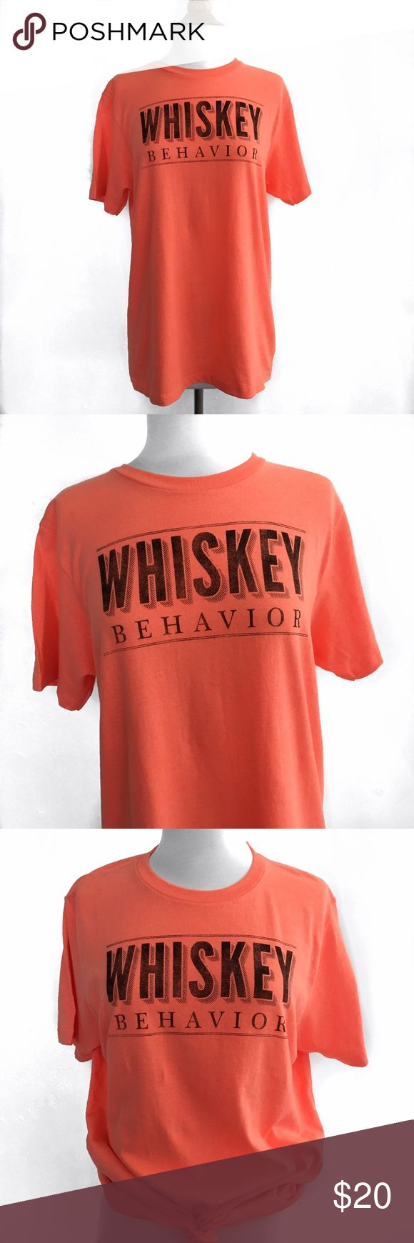 KID DANGEROUS  Whiskey Behavior Tee Crew neck  Short sleeve  Coral  50% Cotton 50% Polyester  Size: Medium  Length: 27.5in  Bust: 19.5 (Armpit to Armpit)   ​☑️​No Pets  ​☑️​Non-Smoking home  ​☑️​Every item steamed throughly before shipped!  ​💌​ Ships from Santa Monica, CA   ​🗝​Follow me on Instagram! @koukil1908 ask to have a video of the item ​✌️ Kid Dangerous Tops Tees - Short Sleeve