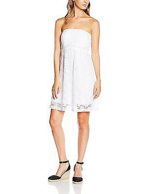 10, White - Weiß (white 220), Urban Classics Women's Ladies Laces Dress NEW